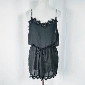 Windsor Black lace Romper